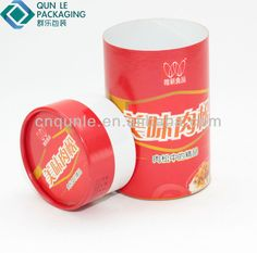 Printing Cardboard Cylinder Packaging Box Canister For Food Grade Packing $0.2~$0.3