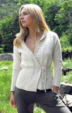 Cozy Wrapped Cardigan | free pattern by O-Wool