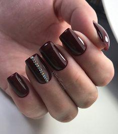 and Beautiful Nail Art Designs Natural Nail Designs, Elegant Nail Designs, Colorful Nail Designs, Nail Art Designs, Red And Gold Nails, Red Nails, Hair And Nails, Cute Nails, Pretty Nails