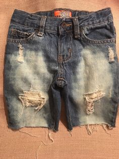 71147d3945 Custom distressed boys Jean shorts Brand- Old Navy Size 5 Adjustable waist  Ready to ship