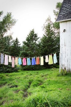 I think I need a clothes line. Obviously I like the nostalgia of hanging out.