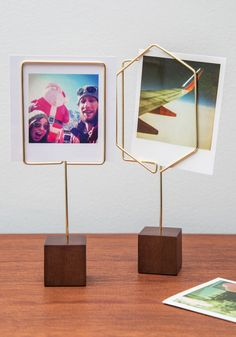 Home Decor - Simple Showcase Photo Holder Wire Picture Holders, Photo Holders, Porte Photo Halloween, Diy Photo, Home Decor Accessories, Decorative Accessories, Best Photo Frames, Photo Displays, Home Gifts