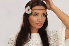 Accessory DIY Tutorial: Flower Hair Band - Hippie Hair Jewelery