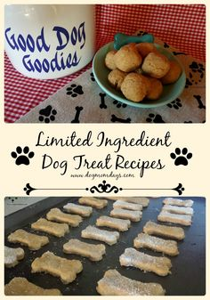 Limited ingredient dog treat recipes. Easy dog treats to make at home! #DIY…