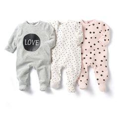 Pyjama met voetjes in fluweel (set van 3) LES PETITS PRIX