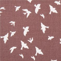 taupe bird martin fabric by Michael Miller flight USA 1