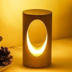 Bedside Desk Lamps, Wooden Desk Lamp, Table Lamp Wood, Led Desk Lamp, Wood Lamps, Wood Desk, Bedroom Lamps, Driftwood Table, Oak Table