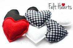 Felt Hearts Tutorial and Matching Gift Tag Printable