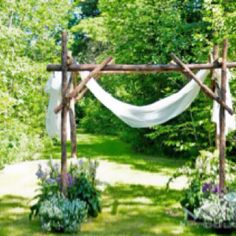 Wooden archway to get married under