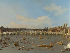 Canaletto - Westminster Bridge, with the Lord Mayor's Procession on the Thames, 1747 - Google Art Project.jpg