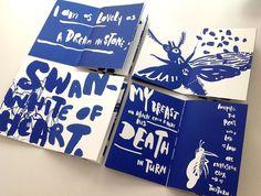 Charles BaudelaireBeauty La Beauté silkscreen book, size edition of Graphisches Design, Buch Design, Book Design Layout, Print Design, Mise En Page Magazine, Design Editorial, Art Zine, Typography Design, Branding Design