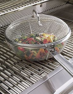 This Mesh Chef's Pan is perfect for your Labor Day cookouts!