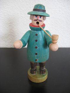 altes DDR Räuchermann Räuchermännchen Männlein Erzgebirge Handarbeit