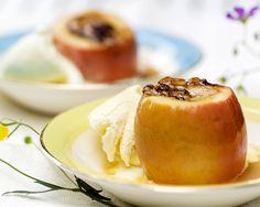 bakte epler og is
