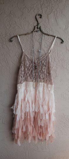 Great Gatsby wedding Peach blush ombre  Faux by BohoAngels on Etsy, $260.00