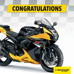 Congratulations Ferdinand Esterhuyse on winning the Suzuki GSXR 750 bike worth R155 000! Happy riding. #TakeTheRoad #Dunlop #SaferThanSafe #Suzuki