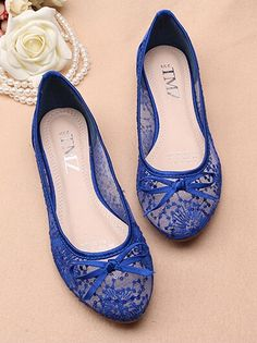 Blue See Through Lace flats Shoes,Lace Bridal Flats,Wedding Flats | colorfulbeach - Clothing on ArtFire