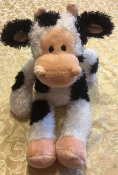 """Rare 17"""" Gund IKE 319626 Barnyard Pals Baby Stuffed Plush COW HTF #Gund"""