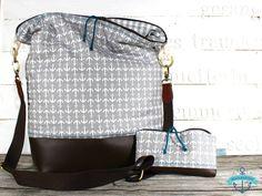 Umhängetasche Tasche GRAUE ANKER, maritim von dünenmädchen auf DaWanda.com