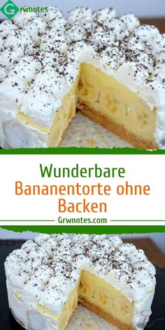 Wunderbare Bananentorte ohne Backen Ingredients For the pie base: 600 g butter cookies 250 mlFanta For the filling: 2 Pck.Pudding powder with vanilla flavor Cupcakes, Cranberry Chutney, Coconut Macaroons, Vanilla Flavoring, Cake Tins, Cookies Et Biscuits, Cake Cookies, Cake Mold, Popular Recipes