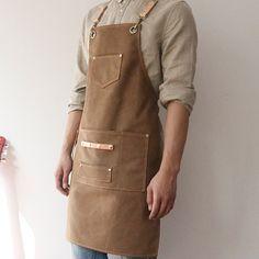 Unisex Gray Khaki Canvas Long Bib Apron with Convenient Pockets. Suitable for Uniforms of Barber, Barista, Bartender, Baker, Chef, Stylist, Hairdresser, Waiter, Waitress, Florist, Painter, Gardener, Carpenter, Woodworker or Work wear of Salon, Bakery, Cafe, Restaurant, Hotel, Bistro, Tattoo shop, Craft workshop etc. Cafe Uniform, Waiter Uniform, Hairstylist Apron, Long Bib, Barber Apron, Restaurant Uniforms, Shop Apron, Work Aprons, Leather Apron