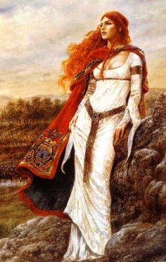"""Ahes was also referred to as Dahud-Ahes and Dahut.  According to Patricia Monaghan, """"this pagan princess lived in Brittany, the far-western Celtic wilderness of France, during the period when the Christian monks were destroying the remnants of the old European religion – the worship of maternal nature.  These flesh-despising monks ruined the princess'"""