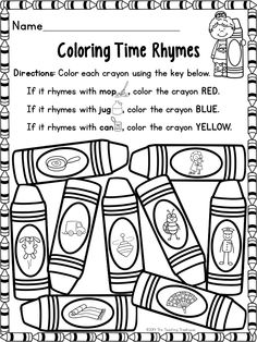 Freebie-When working with rhymes, students should be able