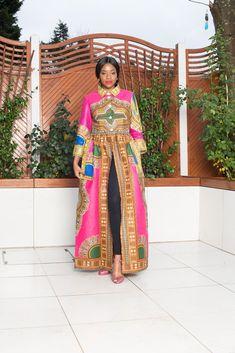 Pink Dashiki African Print Top/Dress African Tops, African Maxi Dresses, African Inspired Fashion, Dashiki, Chic Outfits, Pink Dress, Casual Dresses, Iron, Bleach