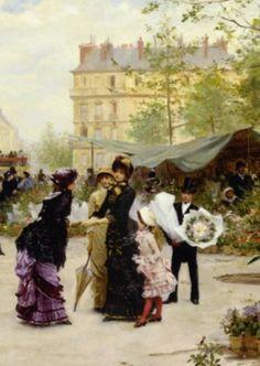 The Flower Market (detail),1881 - Victor Gabriel Gilbert