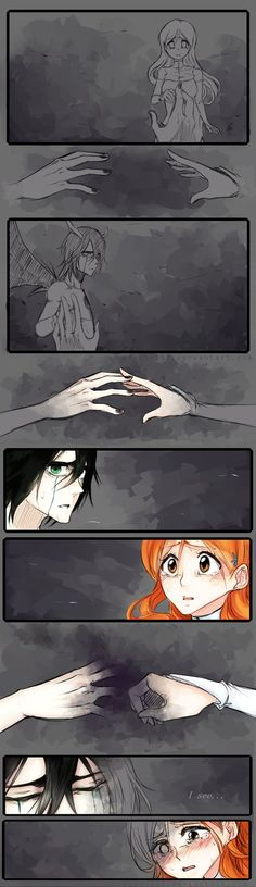 the grey bit on the last panel of oriheme is that when uqlioria died something inside her died with him :(