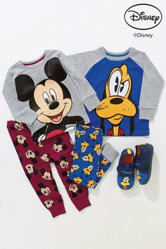 Buy Plum Mickey Mouse™ Snuggle Fit Pyjamas Two Pack (9mths-8yrs) from the Next UK online shop