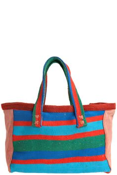 Large Stripe Tote  by LAURENCE HELLER