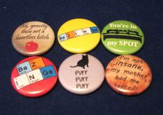 I want these!  https://www.etsy.com/listing/152677713/the-big-bang-theory-pinback-button