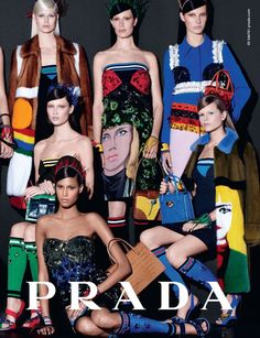 Prada Spring 2014.  Photographed by Steven Meisel.
