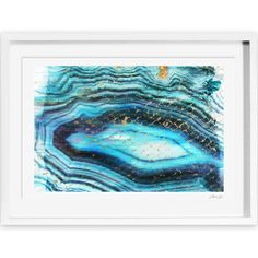 Wade Logan 'Sea of Turquoise' Painting Print on Canvas Size: H x W Canvas Fabric, Canvas Art, Canvas Prints, Framed Prints, Canvas Size, Painting Frames, Painting Prints, Mod Wall, Geode Decor
