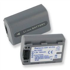 72v 850 MAh Silver Camcorder Battery For Sony NP FP50