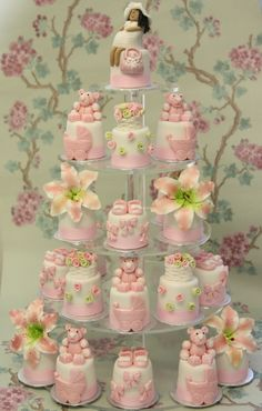 WOW!!!!  LOVE the tiny rosebuds!  What a beautiful idea for a baby shower!
