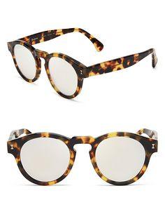 Illesteva Leonard Mirrored Round Sunglasses, 48mm