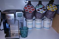 Handy K-cup holders! Oh-Snap bins! Love this solution! www.bagladycarla.com