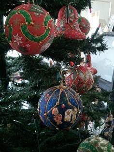 Addobbi di Natale in patchwork senz'ago