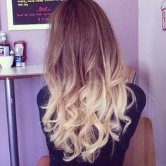 pretty dip dye hair