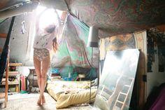 artsy bedroom.