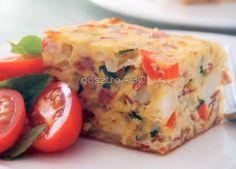 Parmezánnal sült frittata | Receptek Frittata, Breakfast, Food, Morning Coffee, Meals, Yemek, Eten