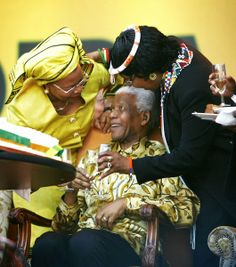 This image is a video grab rather than a traditional photo but it captures a moment as Nelson Mandela's widow Graca Machel and his forme. My Black Is Beautiful, Black Love, Beautiful People, Nelson Mandela Birthday, Winnie Mandela, Spartan Women, African American Literature, Black History Facts, Joan Rivers