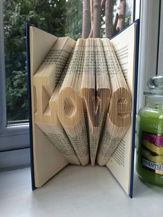 Pattern for Love Folded Book Art PDF Book Folding free beginners tutorial
