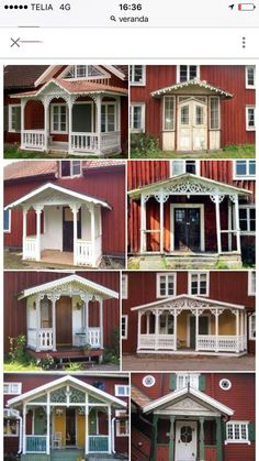 Swedish Cottage, Old Cottage, Cottage Homes, Cabin Porches, Decks And Porches, Porch And Balcony, Turbulence Deco, Exterior Remodel, The Doors