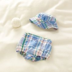 Madras Diaper Cover & Hat - Baby Boy Hats, Scarves & Gloves - RalphLauren.com