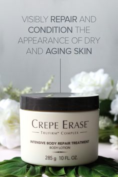 Help restore your skin's youthful bounce with the deeply hydrating, nutrient rich power of Intensive Body Repair Treatment from Crepe Erase. Made with TruFirm Complex, it's clinically shown to provide all-day moisture for satin-smooth skin. Get yours toda