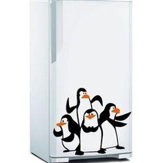 Adesivo de Geladeira Pinguins de Madagascar
