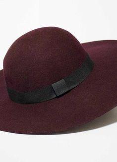 Kup mój przedmiot na #vintedpl http://www.vinted.pl/damska-odziez/inne-ubrania/16791220-bordowy-kapelusz-reserved-z-duzym-rondem